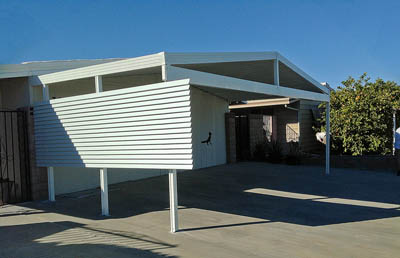 Mobile Home Awning with Screen